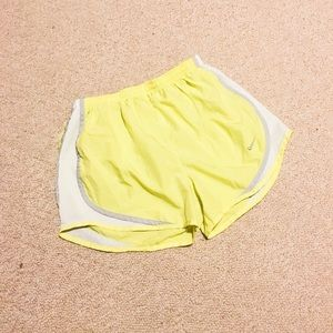 Bright yellow Nike shorts size small